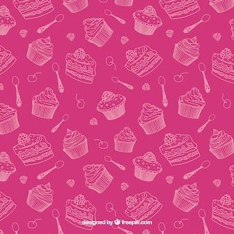 スケッチお菓子パターン