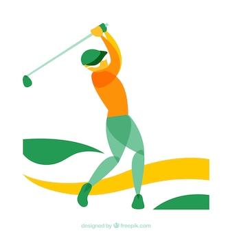 抽象ゴルファー
