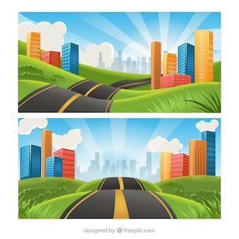 都市への道