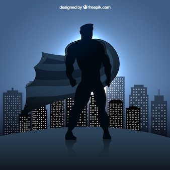 Супергерой силуэт