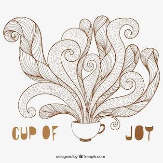 コーヒーのスケッチカップ
