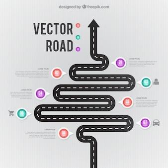 Изогнутые дороге инфографики