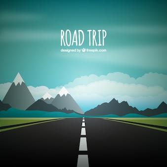 道路の旅の背景