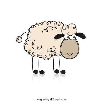 スケッチ羊