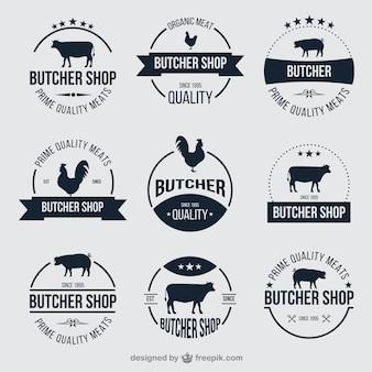Мясной магазин значки