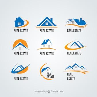 Недвижимость коллекция государственных логотипы