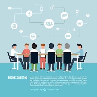 ビジネスミーティングインフォグラフィック