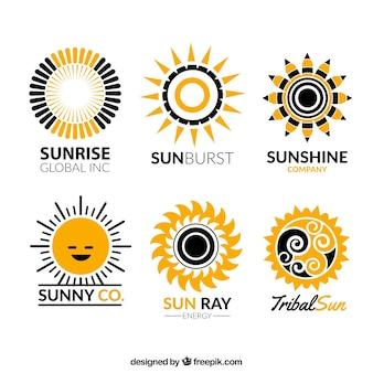 Солнце логотипы коллекция
