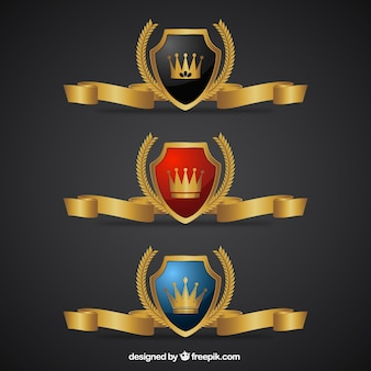 Роскошные золотые значки