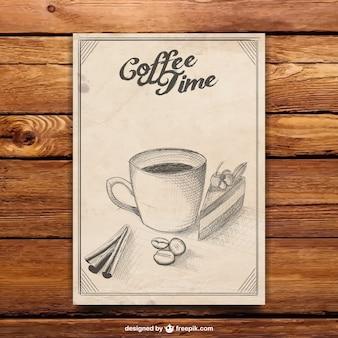 Кофе время плакат