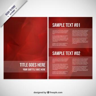 Шаблон брошюры бордовый