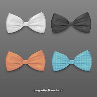 着色された蝶ネクタイ