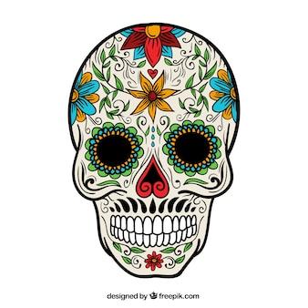 花の砂糖の頭蓋骨