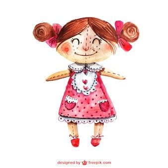 手描きの人形