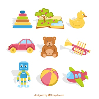 カラフルなおもちゃのコレクション