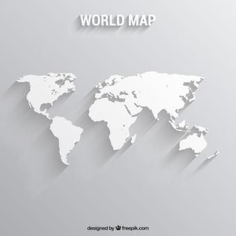 ホワイト世界地図