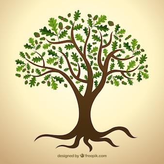緑の葉を持つツリー
