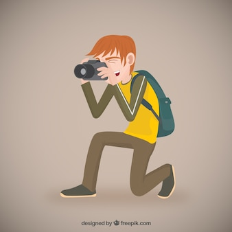 写真家のイラスト