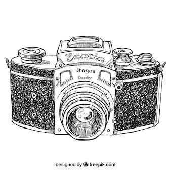 手描きレトロなカメラ