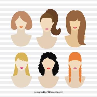 髪型の様々な