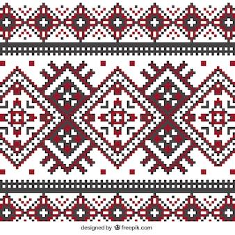幾何学的なスタイルで編みパターン