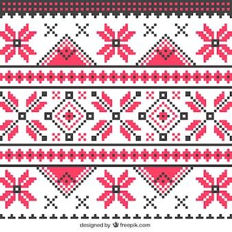 抽象編みパターン