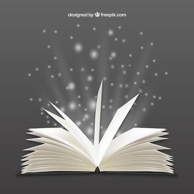 明るく開かれた本