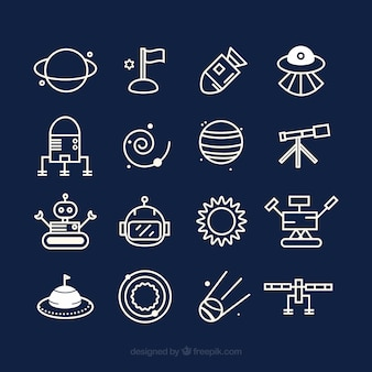 Симпатичные космические иконки