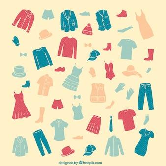 服のコレクション