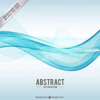 青い波との抽象的な背景