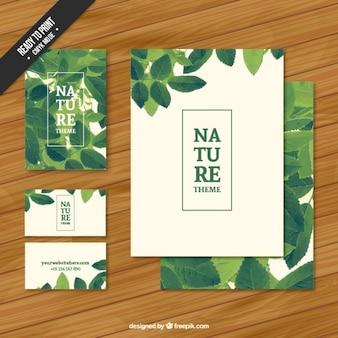 自然の文房具