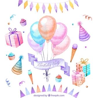 手描きの誕生日の装飾