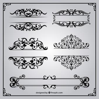 レトロなスタイルで装飾用の罫線