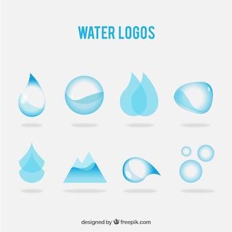 水のロゴの様々な