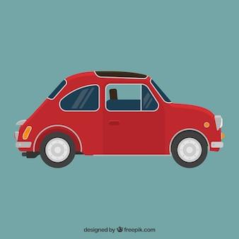 Красный ретро автомобилей