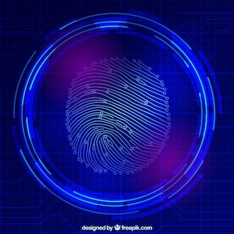 Палец сканирования печати