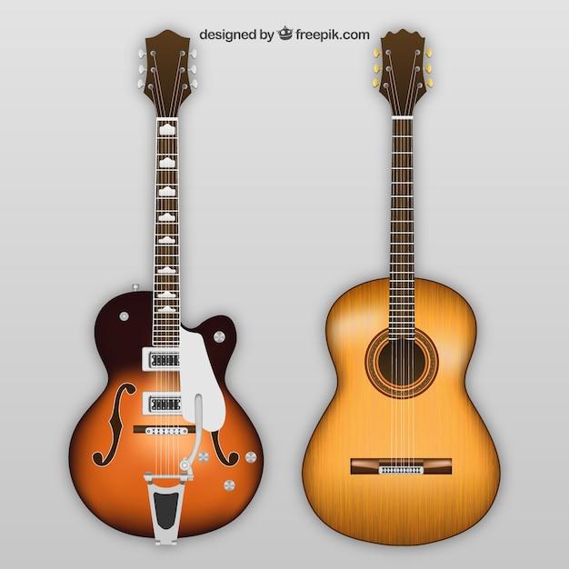 エレクトリックとアコースティックギター