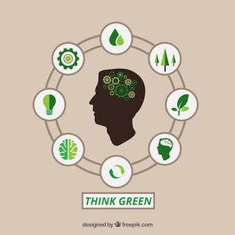 緑のインフォグラフィックを考えてみて