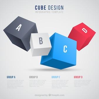 インフォグラフィックキューブ