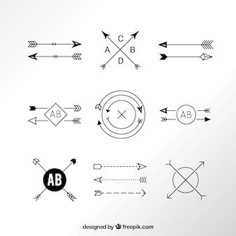 現代の矢印のロゴ