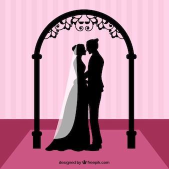 結婚式のシルエット