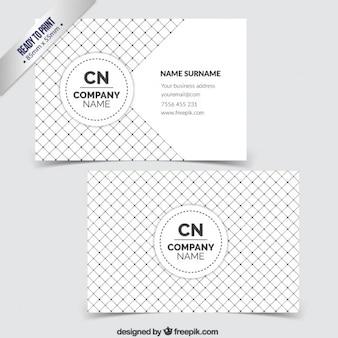市松模様のビジネスカード