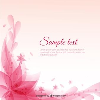 Цветочные розовый фон