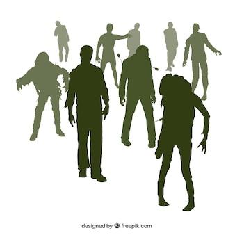 Зомби силуэты