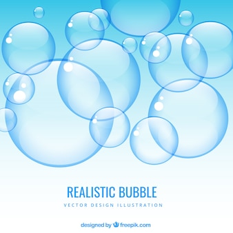 Фон реалистичная пузыри