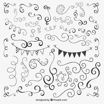 手描き風の装飾用の装飾