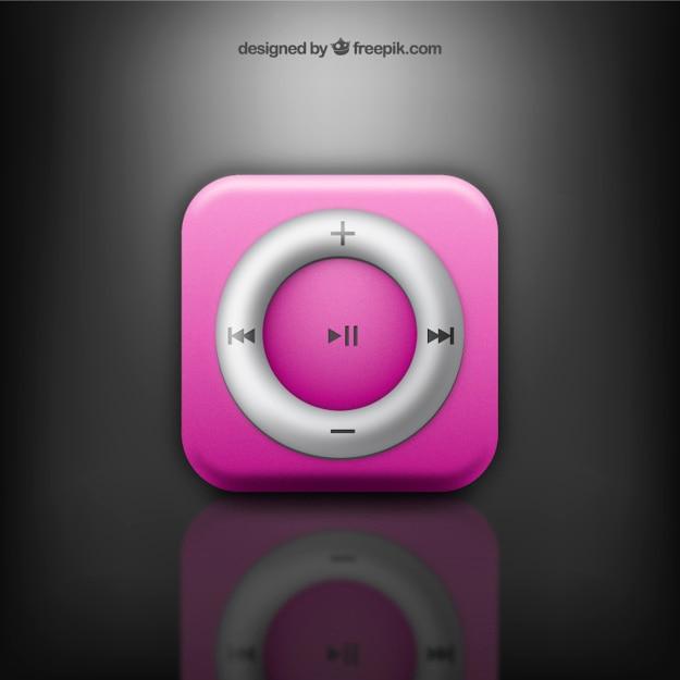ピンクの音楽ボタン