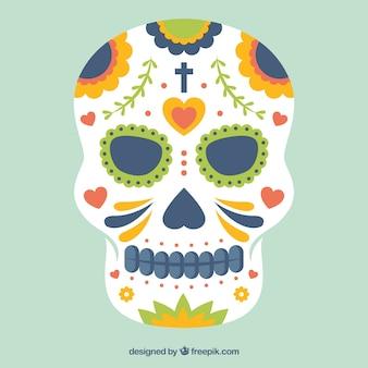 Ручная роспись череп мексиканская