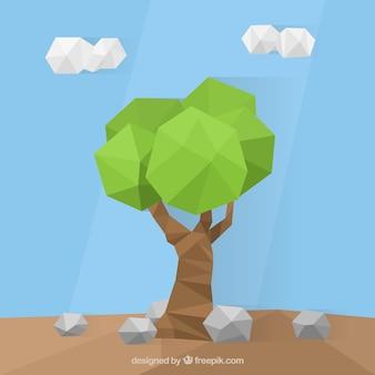 低ポリスタイルのツリー