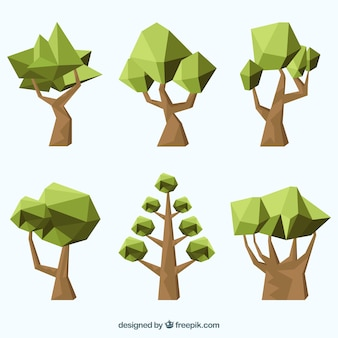 ポリゴン緑の木々